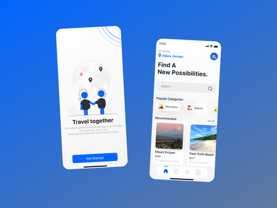 Travel App minimalism discover travelapp travel mobile ui mobile app mobile ui app design