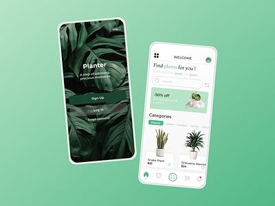 Planter animation branding plantsapp plants mobile ui mobile app mobile app ui design