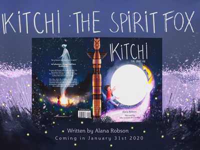 Kitchi: The Spirit Fox Book Cover Mock Up childrens book character design book mockup book cover mockup mockup design book illustration book cover coverart coverartwork childrens illustration childrens book illustration