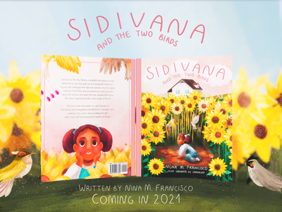 """""""Sidivana And The Two Birds"""" Mockup book cover mockup page design page layout book illustration book cover coverart coverartwork childrens illustration childrens book illustration childrens book"""