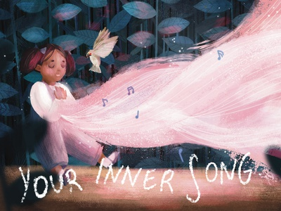 Your Inner Song page design page spread page layout book illustration character design illustrator illustration childrens illustration childrens book illustration childrens book