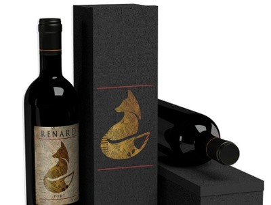 Renard Wine Collection wine label branding design