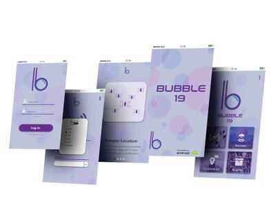 Bubble 19 Social Distancing App app ui logo branding design