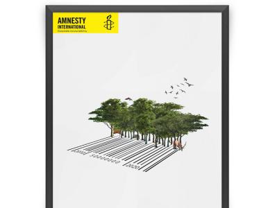 Amnesty International Poster - Corporate Accountability poster illustration design