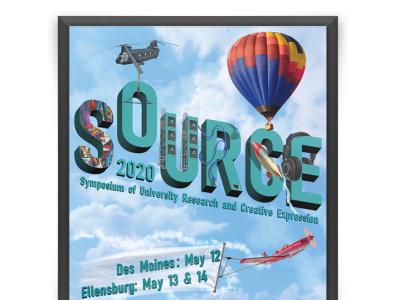 SOURCE - Poster Contest magazine cover poster illustration design