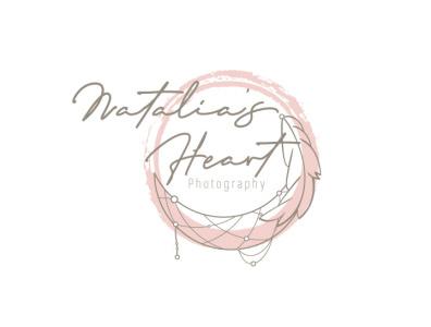 Natalia's Heart Photography - Independent Logo business card design business card illustration logo design