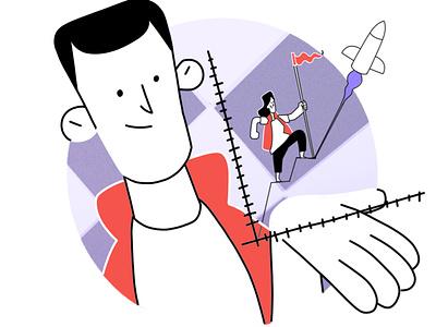 Mentorship illustration system hand drawn illustrator mentorship growth illustration design 2d