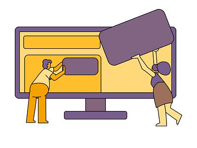Collaboration collaboration branding illustration system hand drawn illustrator illustration design 2d