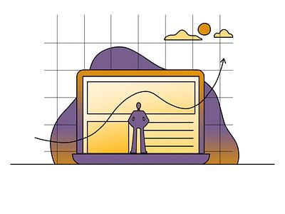 Keep track tracking branding illustration system hand drawn illustrator illustration design 2d