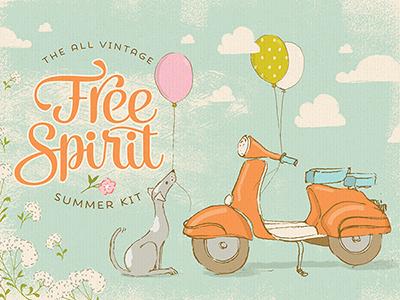 Free Spirit Summer Kit design resources digital art graphic art illustration
