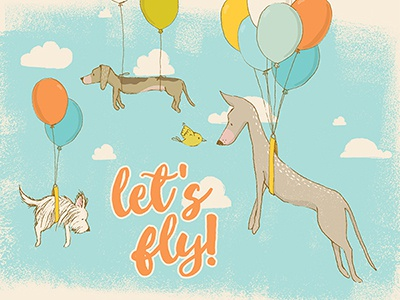 Let's fly! design resources digital art graphic art illustration