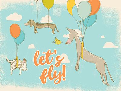 Let's fly! design resources digital art graphic art illustration