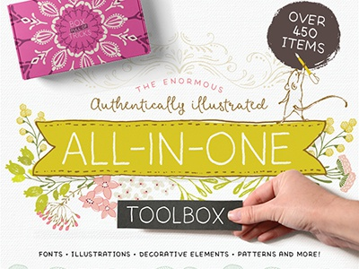 The Authentically Illustrated All-in-One Toolbox design resources digital art graphic art illustration