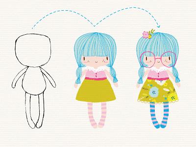 Character building! design resources digital art vector illustration design character