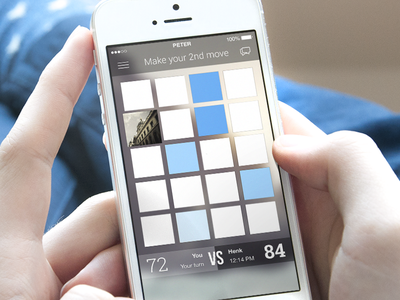 iOS online memory game. interface ios app memory icon game online ui menu chat iphone ux