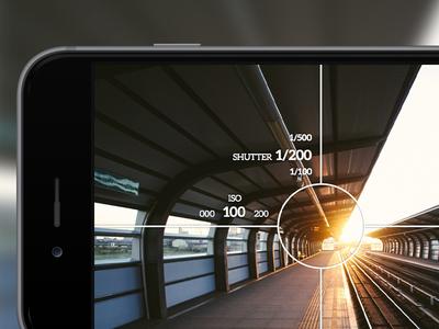 Manual gesture based camera app camera ui user interface gesture manual touch app ios