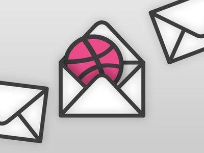 3 Dribbble invites giveaway logo envelope draft invitation invite giveaway dribbble join