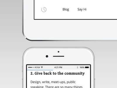 Subtle updates to my portfolio website. indicator progress footer typography icon history career responsive website blog portfolio