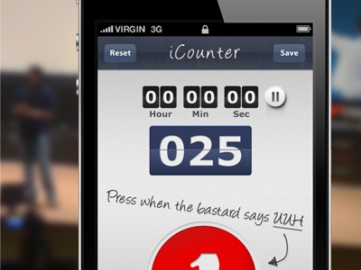 Count application. app ui user interface ios texture iphone mobile retina application