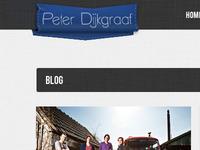 Detail shot of my upcoming portfoio website