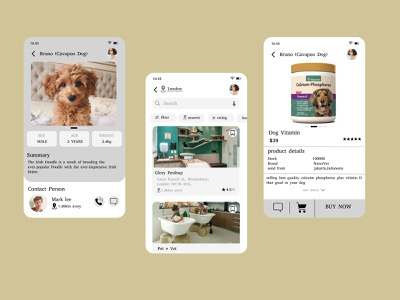 Pet Care App illustration application android app design android app android design pet care petstore petshop pet app design