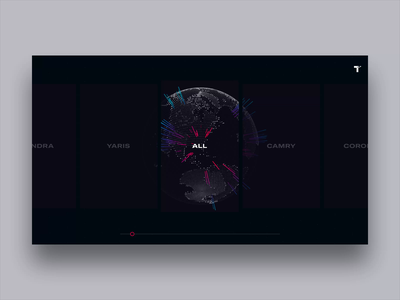 Toyota Experience Center + GlobeKit [Concept] display typography layout dashboard automobile rally interactive ux ui cinema 4d 3d globe interface design creative direction art direction