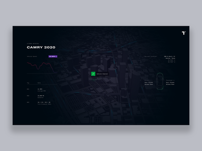 Toyota Experience Center - Vehicle Focus [Concept] art direction concept creative direction uxdesign interface 3d uxui ux rally interactive automobile dashboard layout typography display mapbox map
