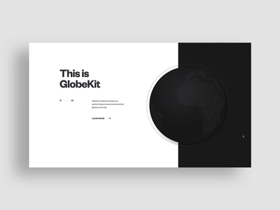 GlobeKit, Earthquakes + Mars Landers webgl web design ux ui typography rally interactive layout interface globe design creative direction clean cinema4d art direction animation 3d animation 3d