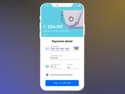 Credit Card Checkout — Dailyui #002