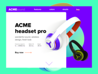 Headphones Landing Page — Dailyui #003