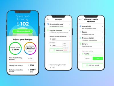 Daily budget calculator app — DailyUI #004