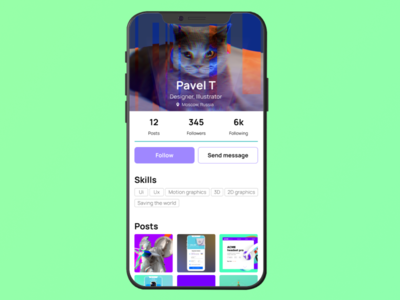 User profile — DailyUI #006