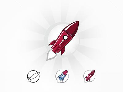 Rocket Logo identity logo pictorial