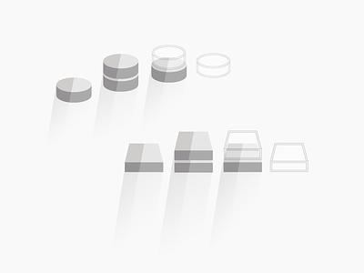 Compute & Storage Icons flat design icons flat illustration graphic graphic design