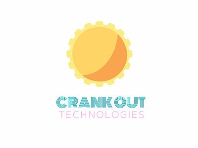 Crank Out Logo branding wordmark pictorial logo identity