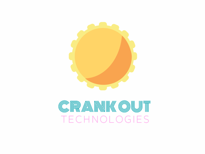 Crank Out Logo branding wordmark pictorial logo identity