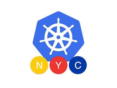 New York Kubernetes Meetup Logo identity branding logo pictorial