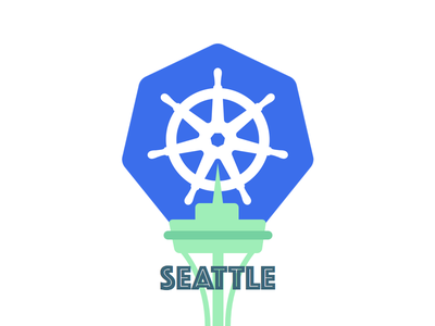 Seattle Kubernetes Meetup Logo branding pictoral wordmark logo identity