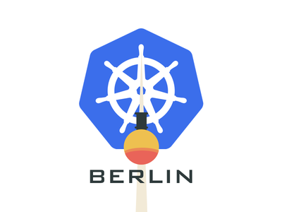 Berlin Kubernetes Meetup Logo pictoral wordmark branding logo identity berlin