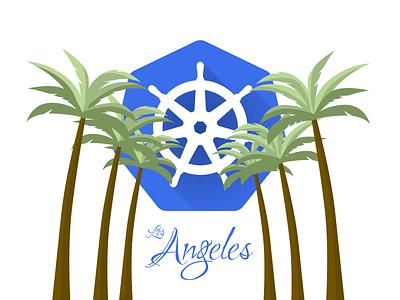 Los Angeles Kubernetes Meetup Logo kubernetes wordmark la los angeles logo identity branding