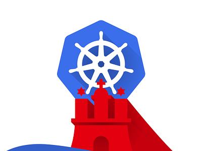 Hamburg Kubernetes Meetup Logo kubernetes germany hamburg logo identity branding