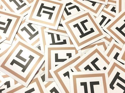 Brand logo stickers print logo stickers brand
