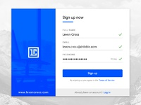 Daily ui challenge  001 sign up filled