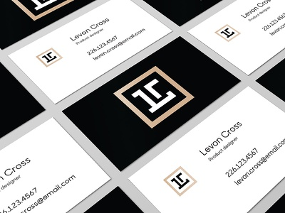 Personal Brand - Business cards logo personal brand simple contrast black and white business cards