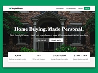 MapleHome real estate homepage