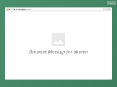 Sketch Browser Mockup Freebie dribbble sketch app free freebie template mockup browser