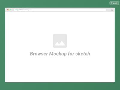 Sketch Browser Mockup Freebie