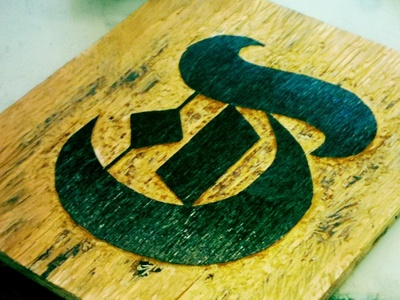 T Wood Block  wood lettering typography t woodcut woodblock print printmaking
