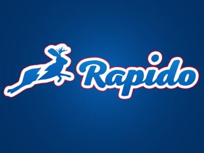 Rapido Logo jackalope lightning script baseball