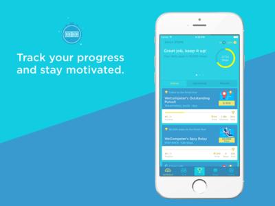 WeCompete iOS App app wecompete ios fitness
